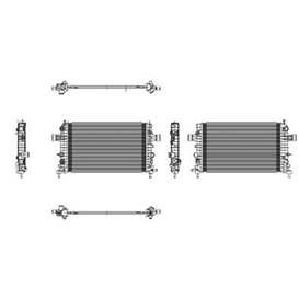 2008 Saturn Astra 1 Row Radiator - RAD13058 RAD13058-08SAAS-1