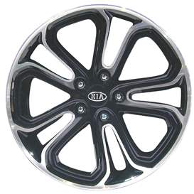 Image of 2010 Kia Soul 18x7 Aluminum Alloy 5 Double Spoke Wheel, Rim